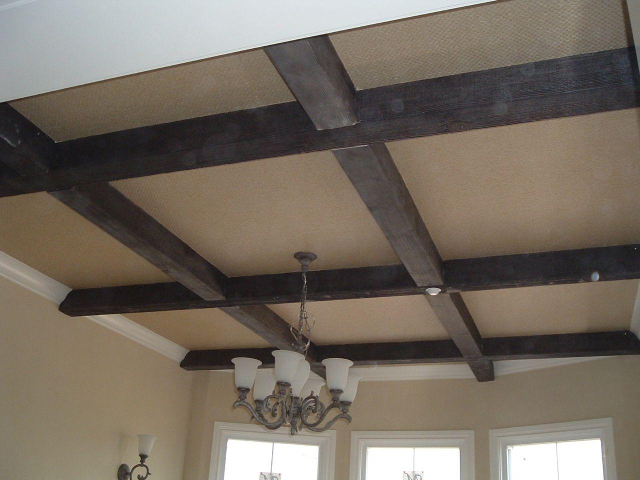 Имитация балок для потолка